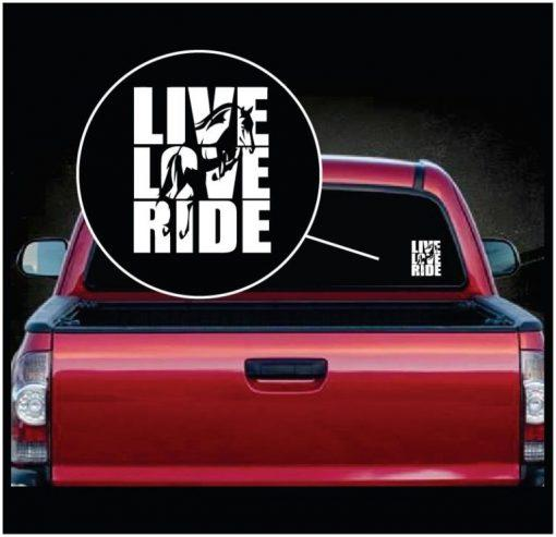Live Love Ride Horse Window Decal Stickers
