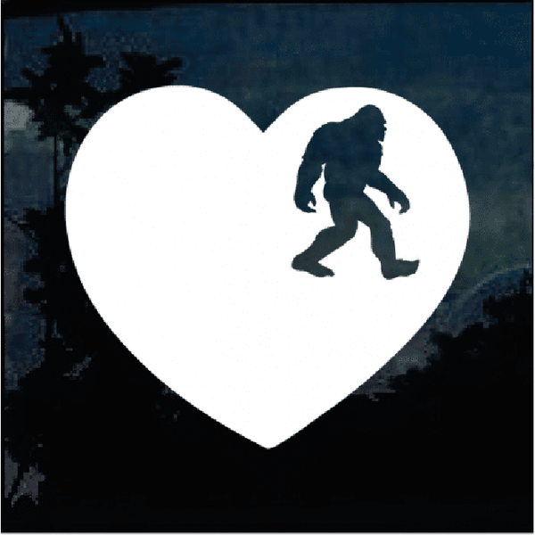 Love Bigfoot Heart Decal – Bigfoot stickers