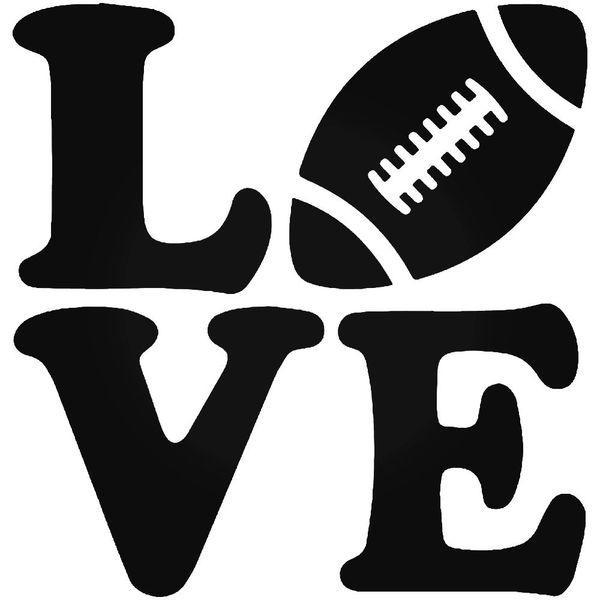 Love Football Decal Stickers