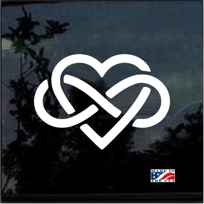 Love Forever Infinity Heart Window Decal Sticker