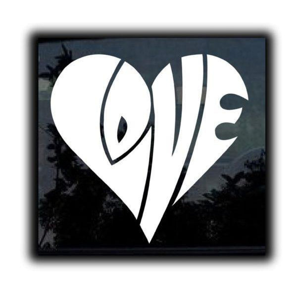Love Heart Window Decal Sticker