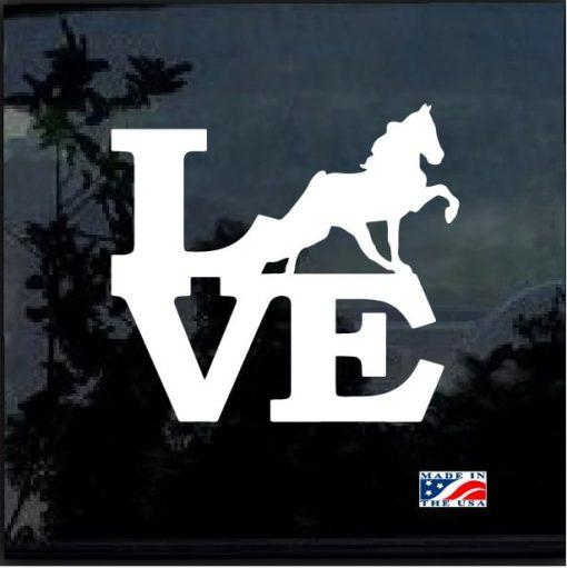 Love Horse Window Decal Stickers