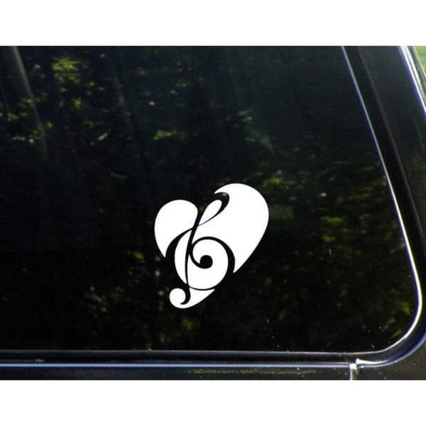 Love Music Heart Note Window Decal Sticker