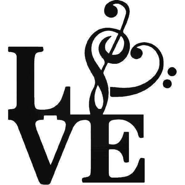 Love Music Note Symbol Decal Sticker