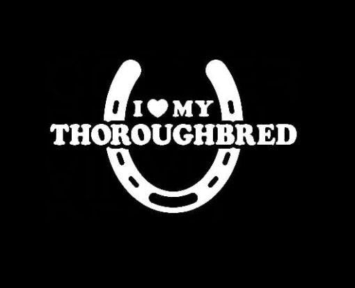Love My Thoroughbred Horse Window Decal Stickers