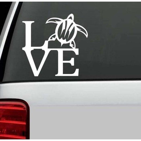 Love Sea Turtle Window Decal Sticker