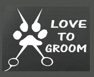 Love to Groom Decal Sticker