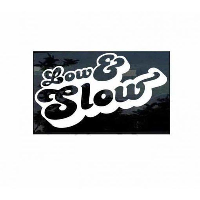 Low and Slow JDM Car Window Decal Stickers