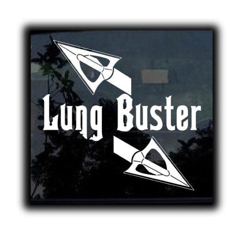Lung Buster II Bow Hunting Window Decal Sticker