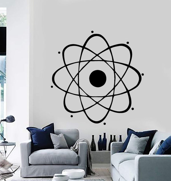 Atom Large Decal Nuclear Science Chemistry Physics Wall Vinyl Art