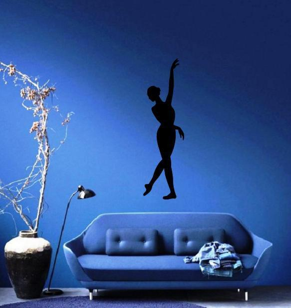 Ballerina Large Decal Silhouette Ballet Dance Studio Decor Wall