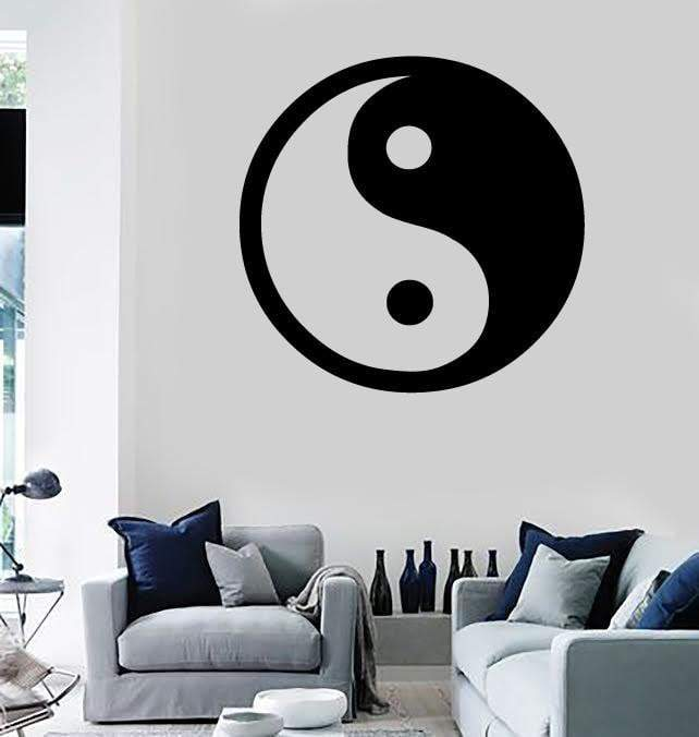 Wall Stickers Vinyl Decal Yin and Yang Opposites Round Chinese