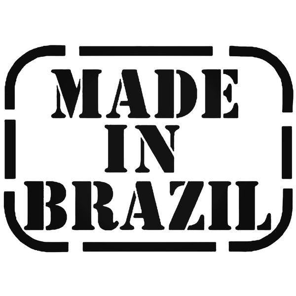 Made In Brazil Band Decal Sticker