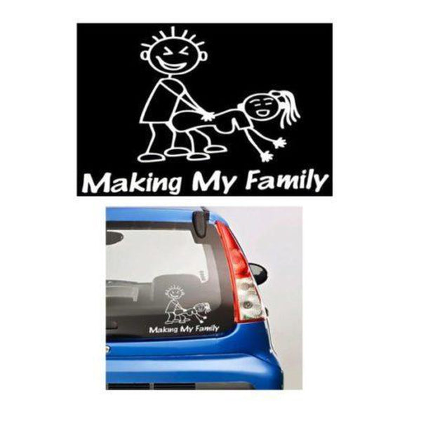 Making my stick family JDM Car Window Decal Stickers