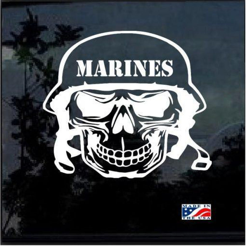Marine Skull Military Window Decal Stickers
