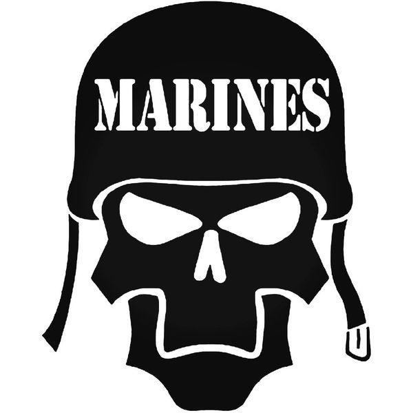 Marines Skull Vinyl Decal Sticker