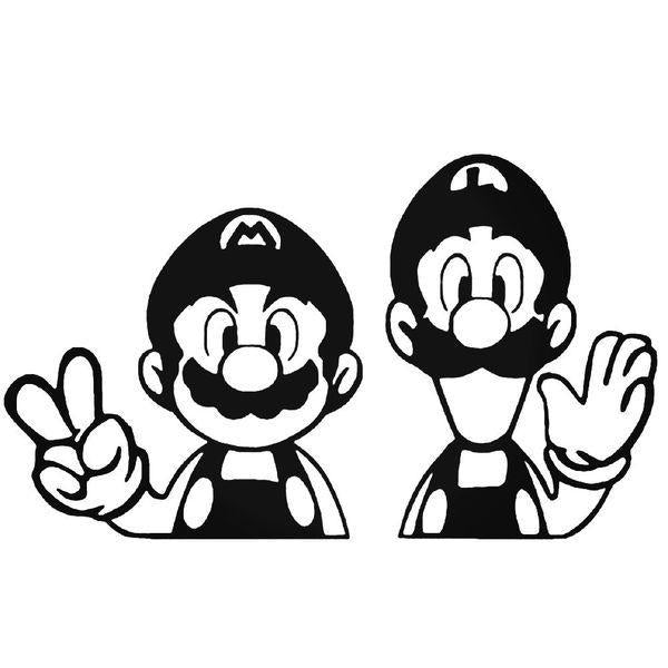Mario Brothers Game Decal Sticker