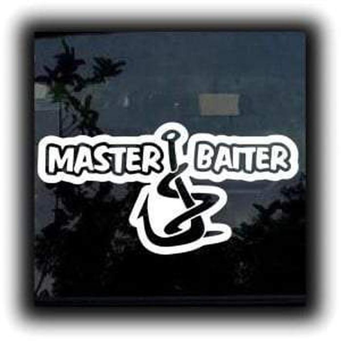 Master Baiter Funny Fishing Decal Stickers A2