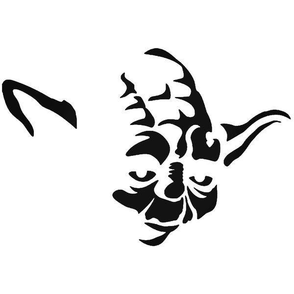 Master Yoda Star Wars Decal Sticker