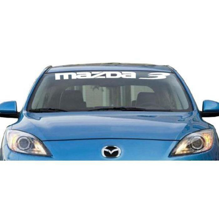 Mazda 3 Windshield Banner Decal Sticker