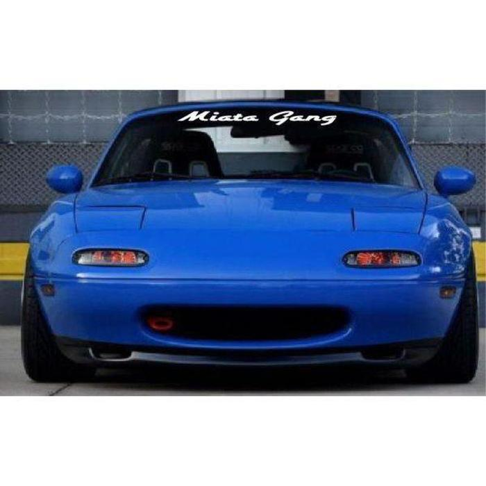 Mazda Miata Gang Windshield Banner Decal Sticker