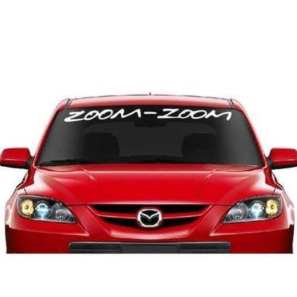 Mazda Zoom Zoom Windshield Banner Decal Sticker