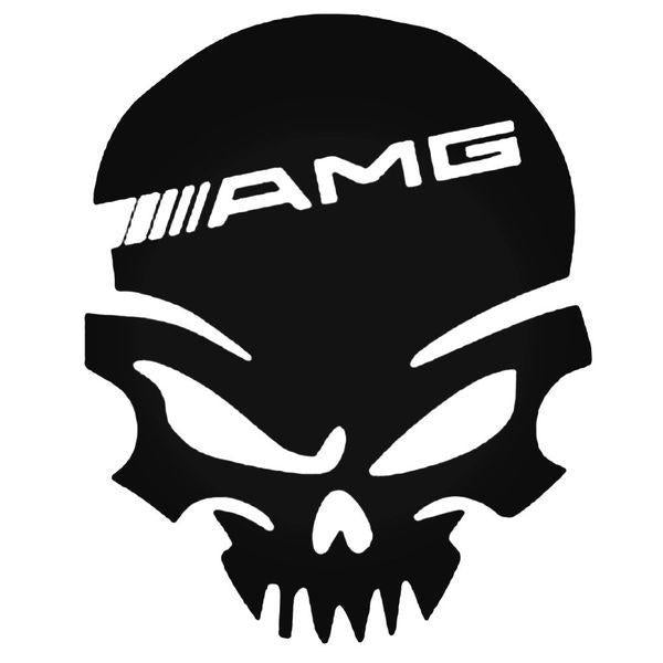 Mercede Amg Skull Decal Sticker