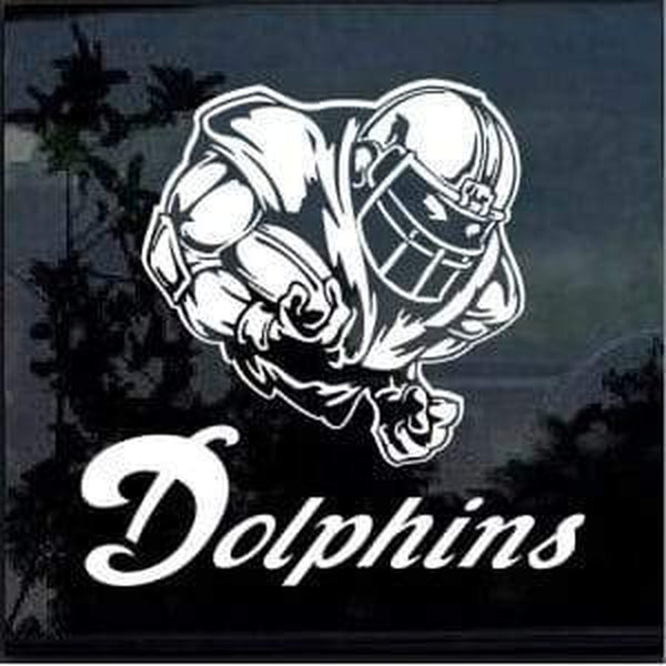 Miami Dolphins Football Player Window Decal Sticker