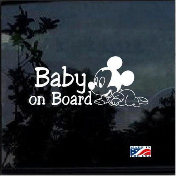 Mickey Mouse Crawling – Baby on Board Sticker