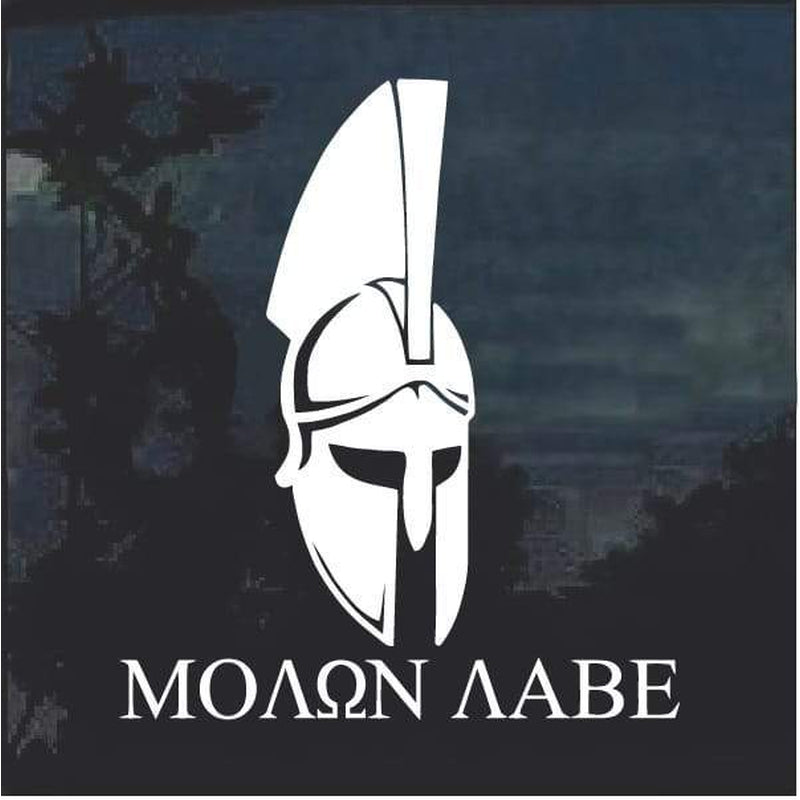Molon Labe Spartan Helmet window decal sticker D2