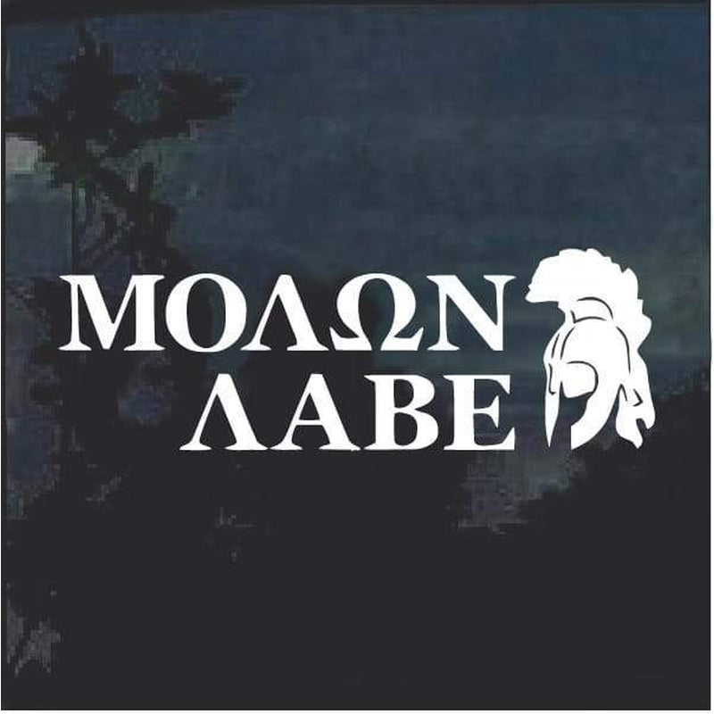 Molon Labe Spartan Helmet window decal sticker D5