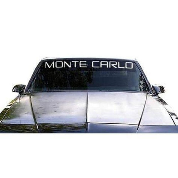 Monte Carlo Classic Windshield Banner Decal Sticker