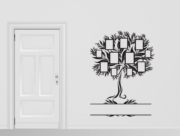 Vinyl Decal Family Wall Sticker Family Genealogical Tree With Frames