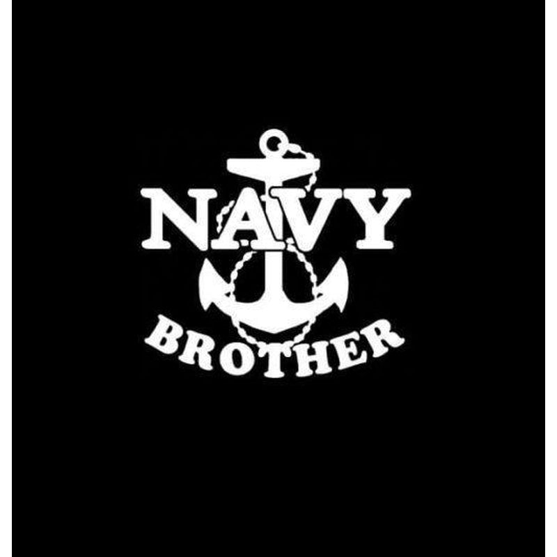 Navy Brother Anchor Military Window Decal Stickers