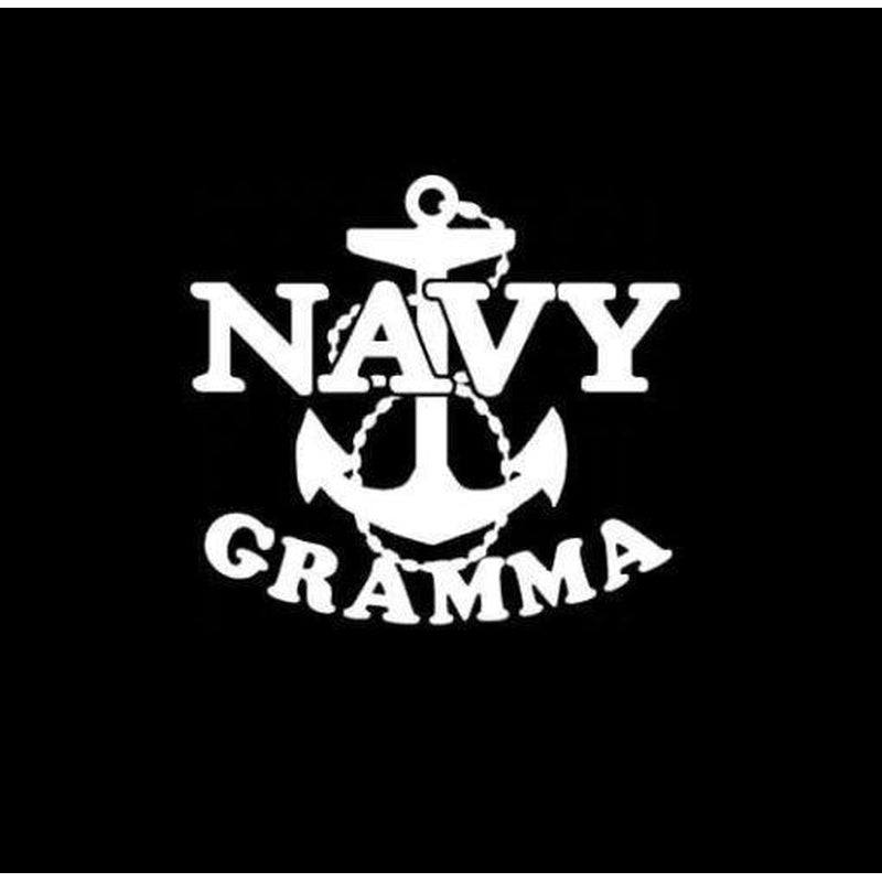 Navy Gramma Anchor Military Window Decal Stickers