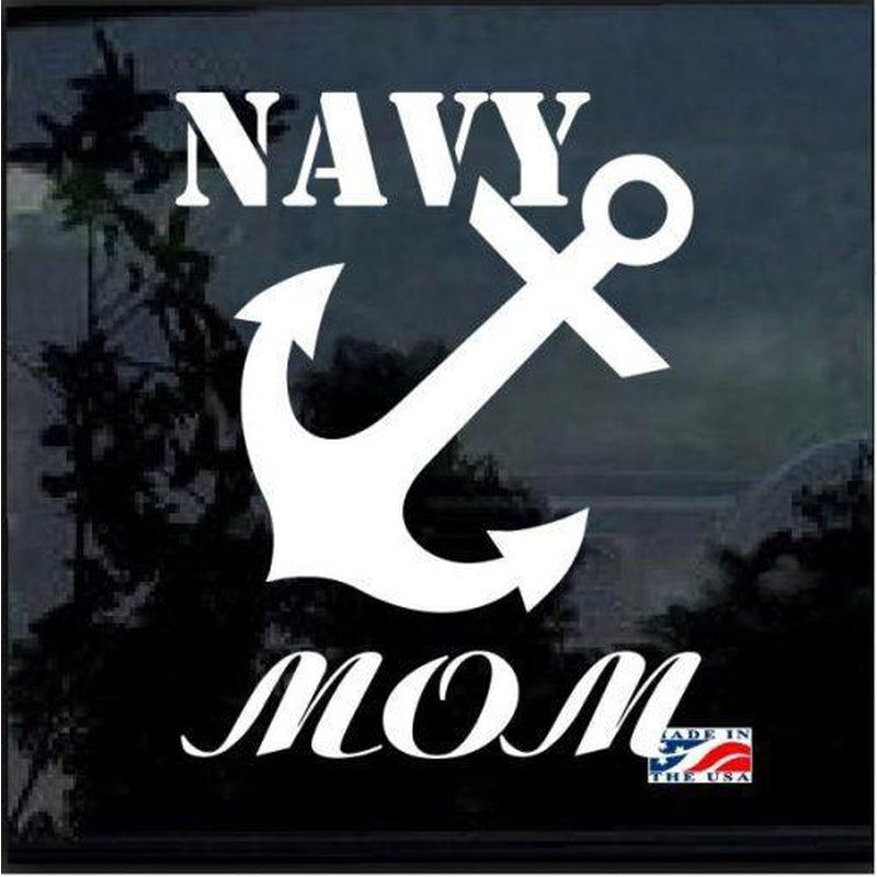 Navy Mom Anchor Military Window Decal Stickers