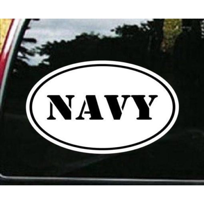 Navy Oval Military Window Decal Stickers
