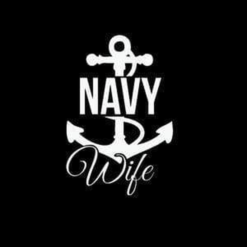 Navy Wife Military Window Decal Stickers