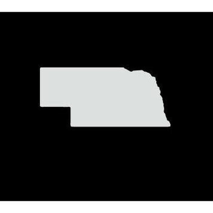Nebraska State Silhouette Truck Decal Sticker
