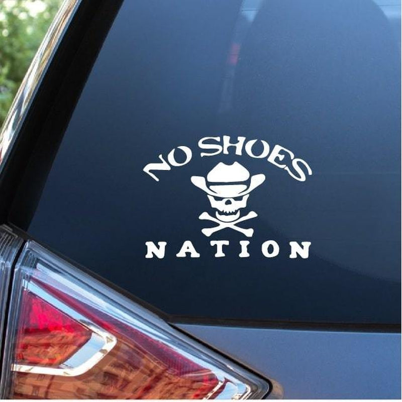 NO SHOES NATION Kenny Chesney Window Decal Sticker