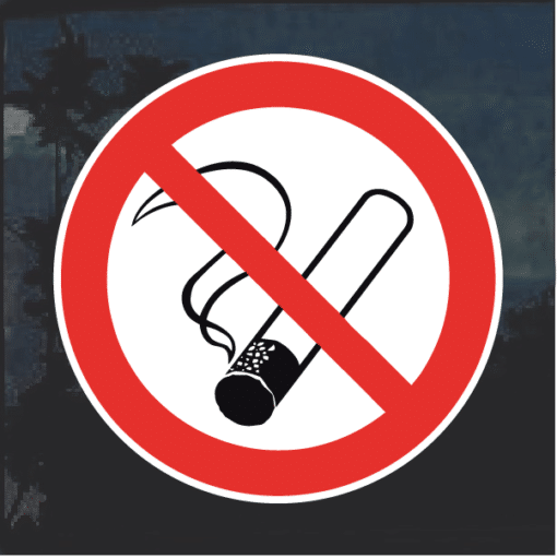No Smoking weatherproof decal sticker