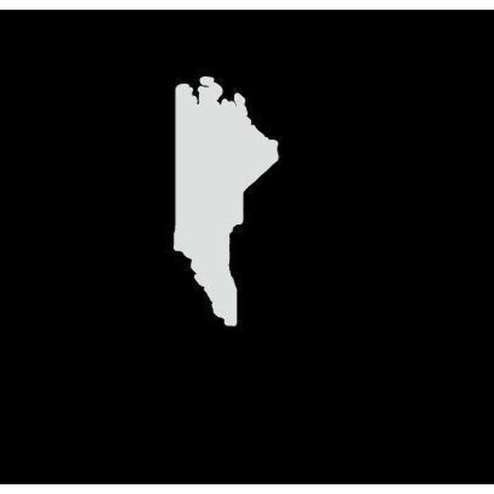 North Carolina State Silhouette Truck Decal Sticker