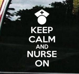 Nurse Decal – Keep Calm Nurse on RN LPN Sticker