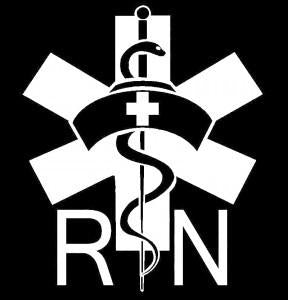 Nurse Decal – Nurse Caduceu RN Nurse Sticker