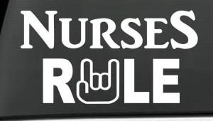 Nurse Decal – Nurse Rule Rn LPN Nurse Sticker
