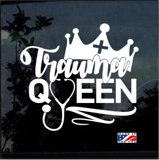 Nurse Decal – Trauma Queen Nurse Sticker