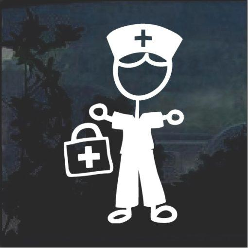 Nurse Nursing Male Sticker Figure Decal Sticker