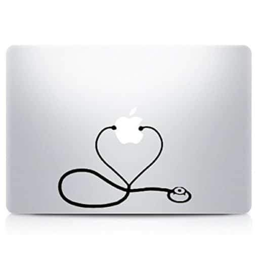 Nurse Stethoscope Laptop Decal Sticker