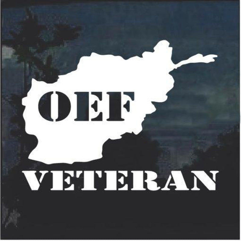 OEF Veteran Window Decal Sticker