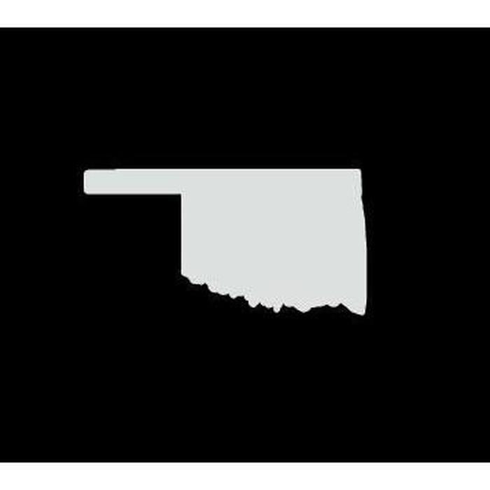 Oklahoma State Silhouette Truck Decal Sticker